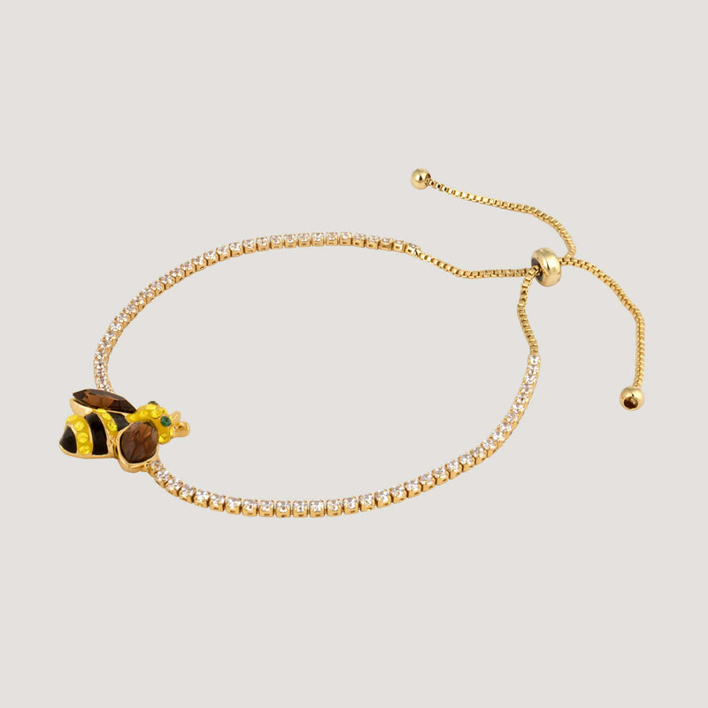 Crystal Bee Adjustable Bracelet