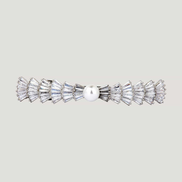 Center Pearl Crystal Hairclip