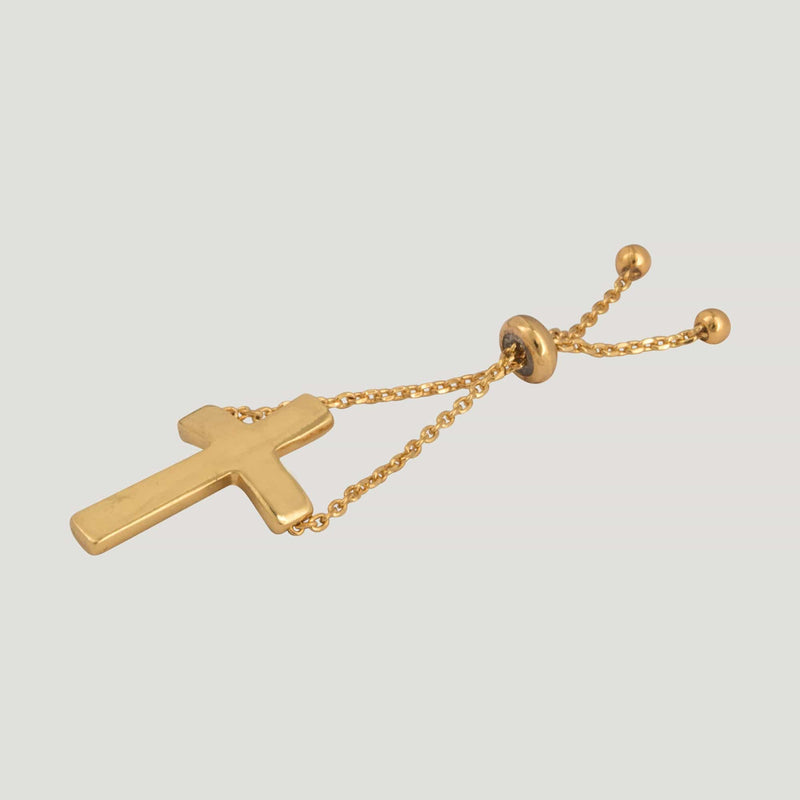 Enamel Cross Adjustable Chain Ring