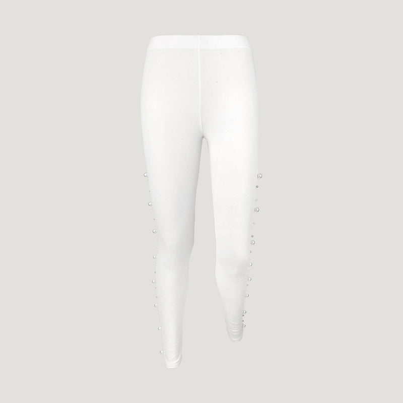 Side Pearl and Crystal Leggings