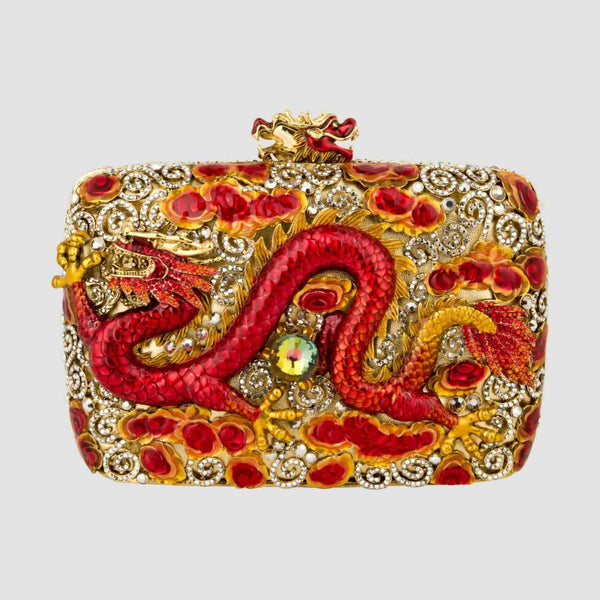 Chinese Dragon Couture Clutch Bag