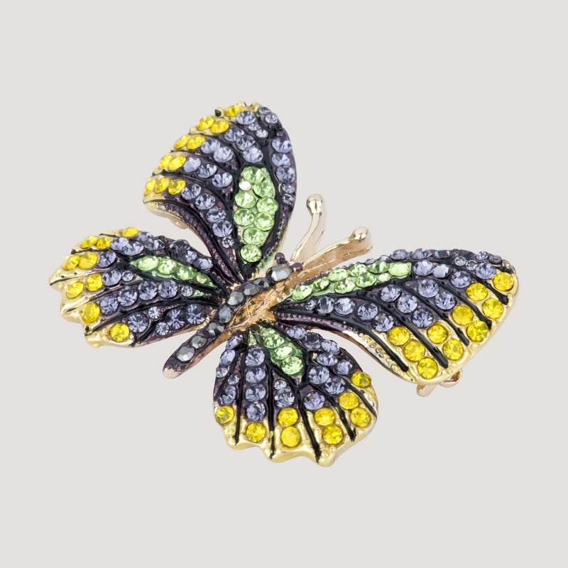 Small Crystal Butterfly Brooch