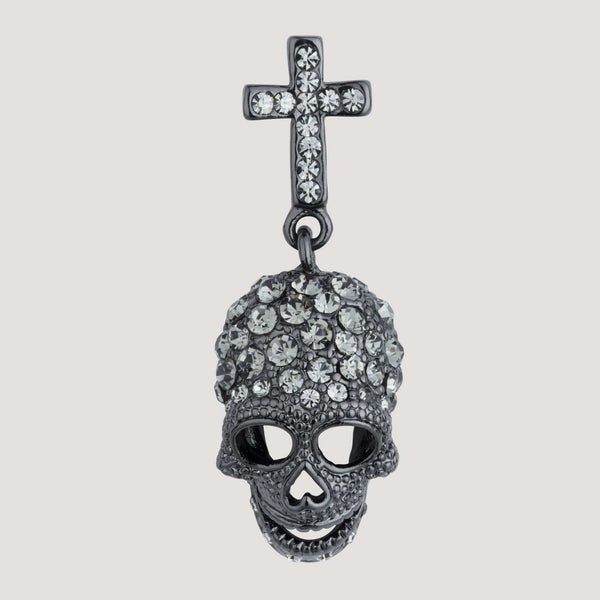 Skull with Cross Pin