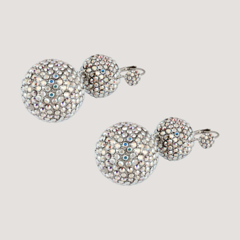 Crystal Ball Drop Earrings