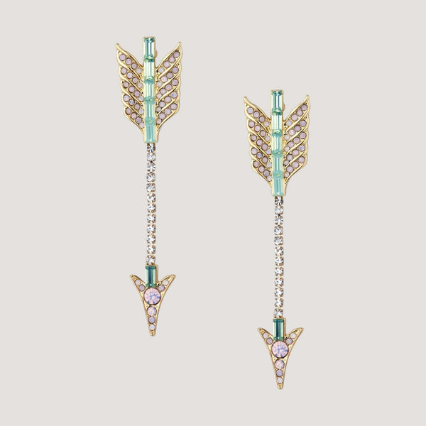 Crystal Arrow Earrings