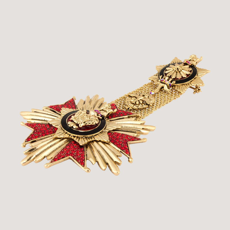 Medal Drop Brooch