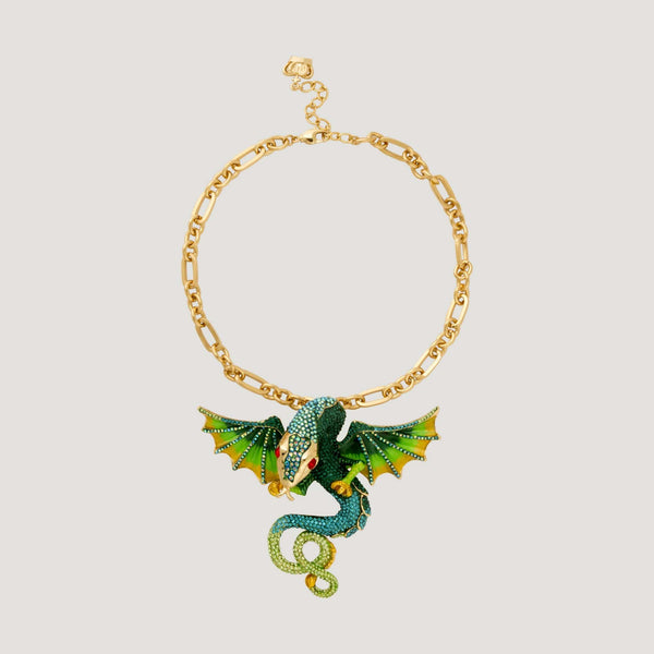 Crystal Mythical Dragon Necklace