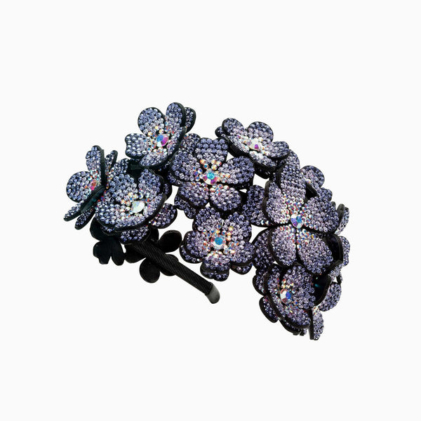 Cluster Crystal Flower Hairband