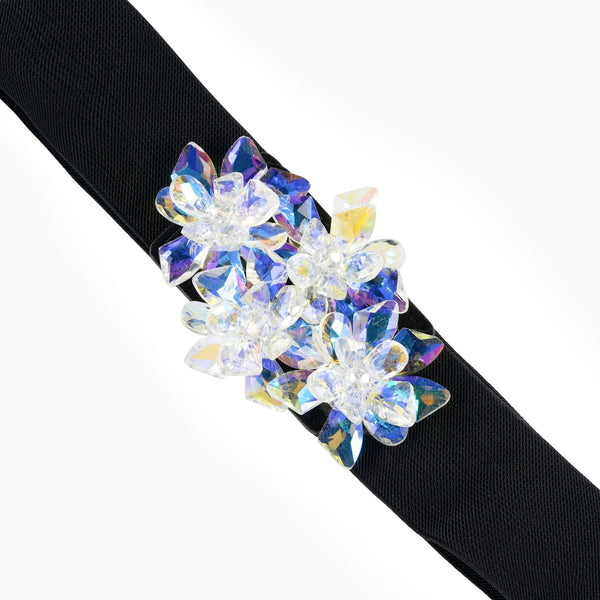 Small Cluster Crystal Flower Belt