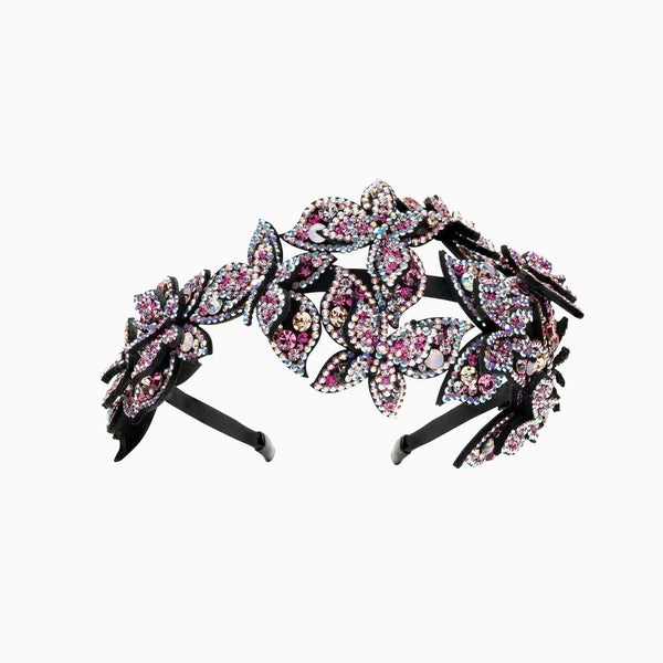 Cluster Crystal Butterfly Hairband