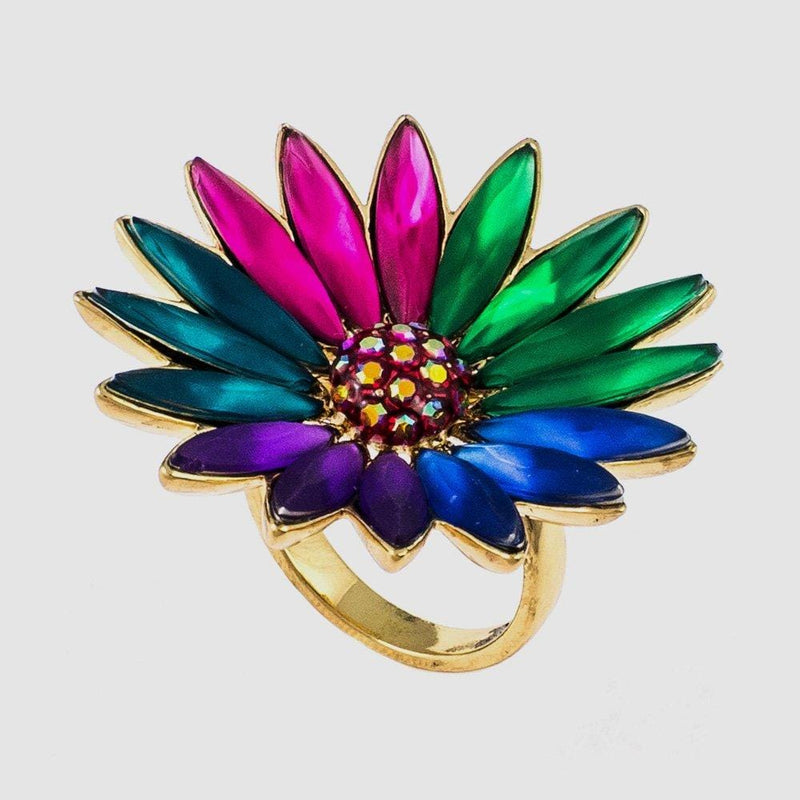 Candy Colours Adjustable Flower Ring