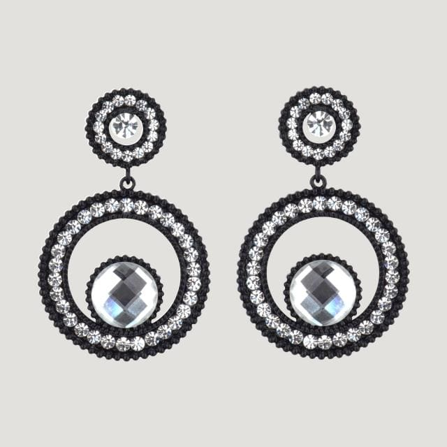 Crystal Circles Earrings