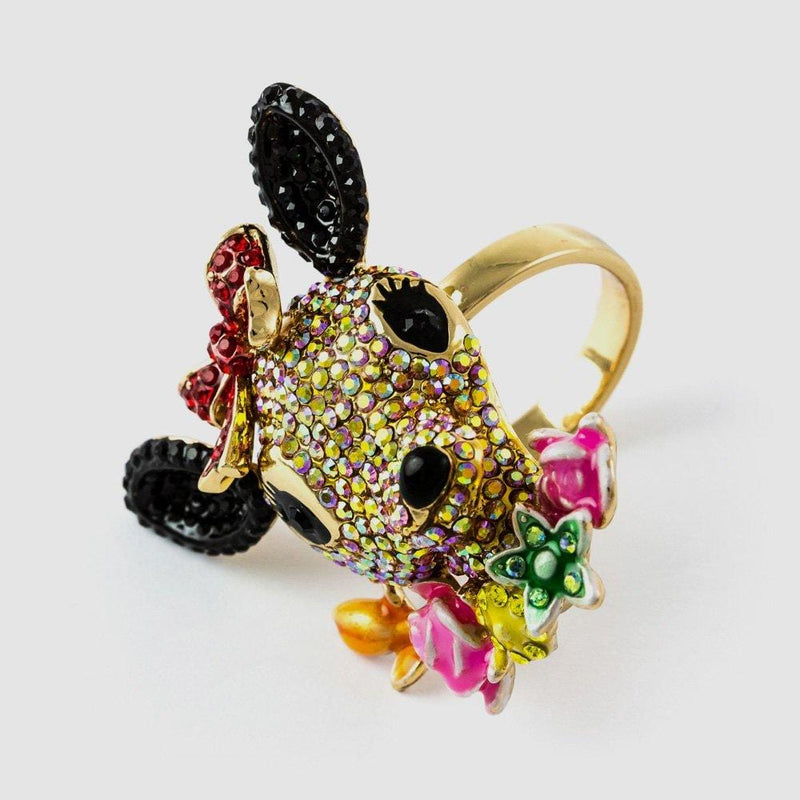 Crystal Baby Deer Adjustable Ring