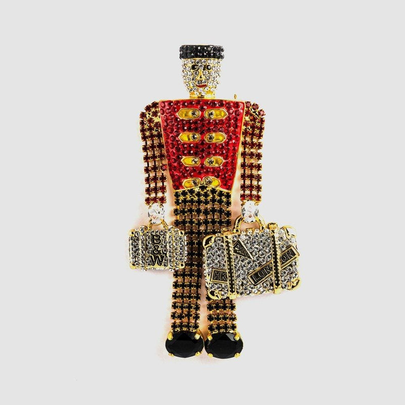 Crystal Bellboy Brooch
