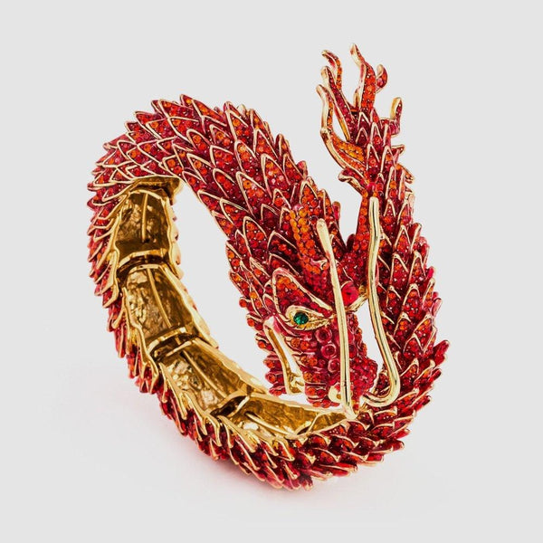 Crystal Chinese Dragon Wrap Bangle