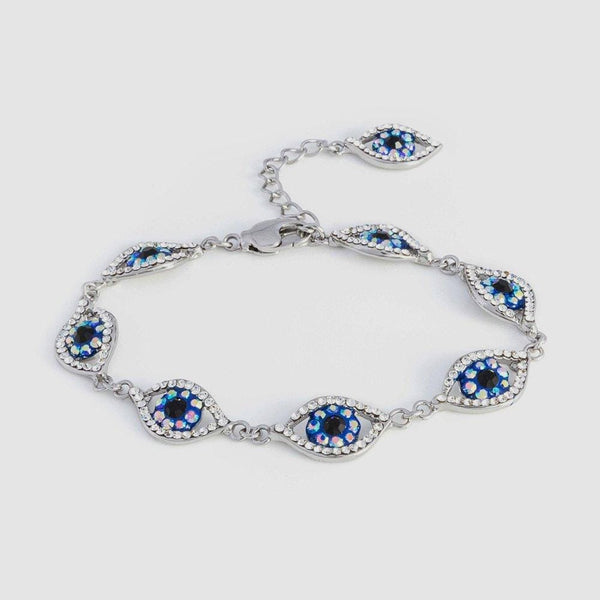 Crystal Multi Eye Bracelet