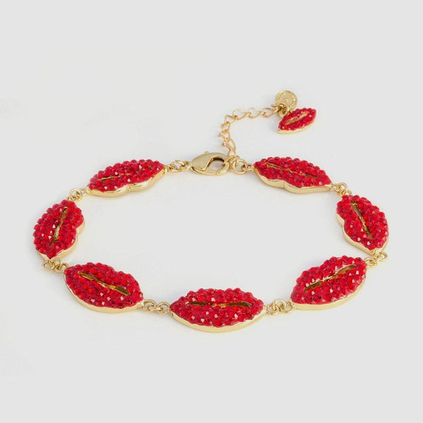 Crystal Multi Lips Bracelet