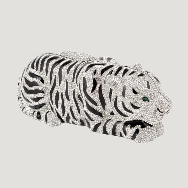 Crystal Tiger Clutch Bag