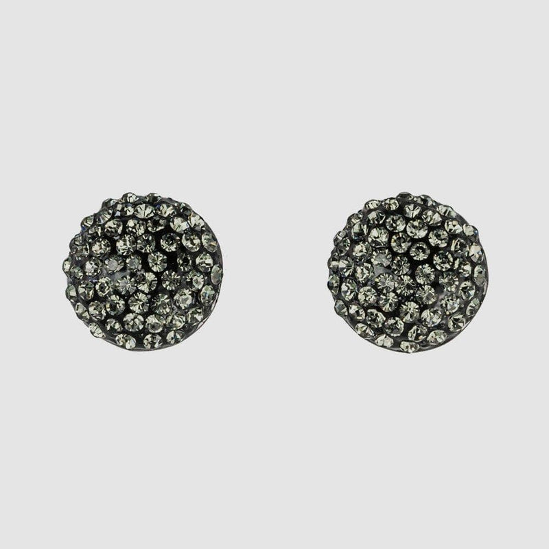 Large Round Crystal Stud Earrings
