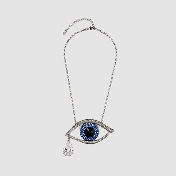 Medium Crystal Eye Pendant