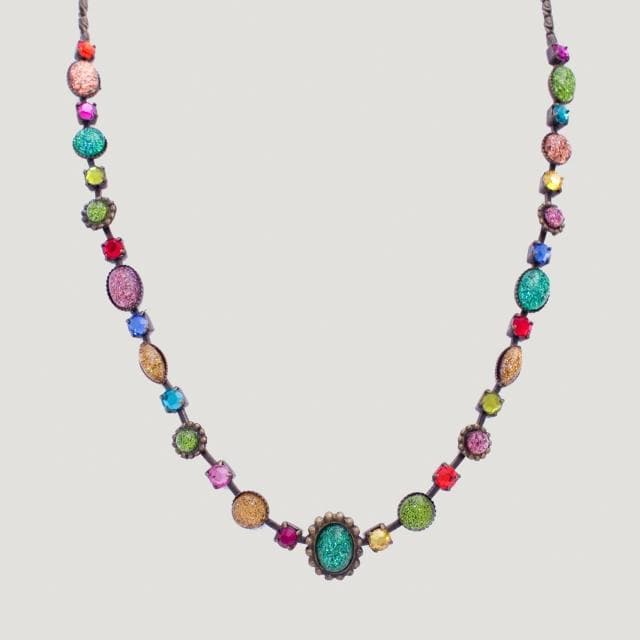Multi Colour Cabochons Necklace