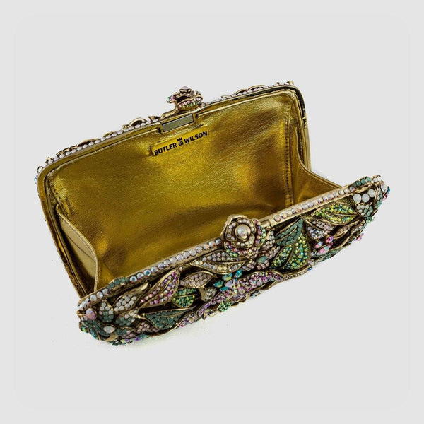 Crystal Flower Couture Clutch Bag