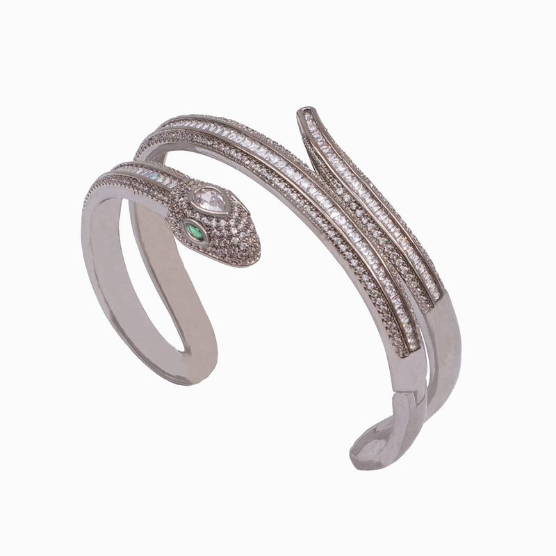 CZ Crystal Wrap Snake Bangle