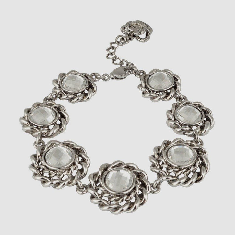 Round Shape Faux Pearls/Crystals Bracelet