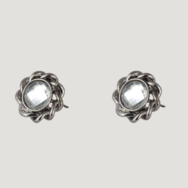 Round Shape French Look Stud Earrings