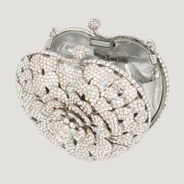 Sale:Swarovski Crystal Heart Shape Flower Bag Ab Multi