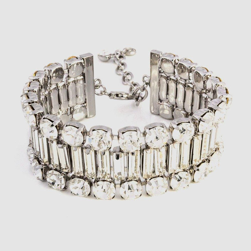 Single Row Crystal Baguette Stones Bracelet