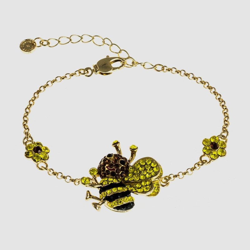 Small Crystal Bee Bracelet
