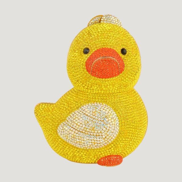 Swarovski Crystal Large Duck Clutch Bag