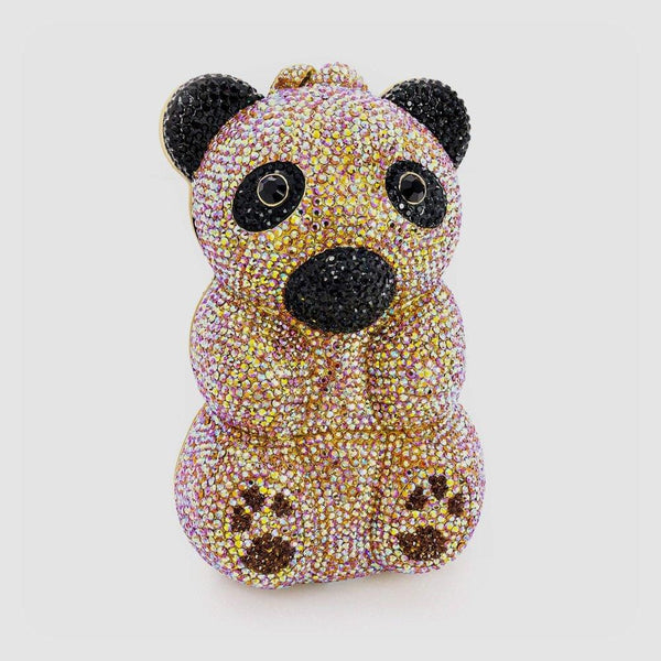 Swarovski Crystal Teddy Bear Clutch Bag
