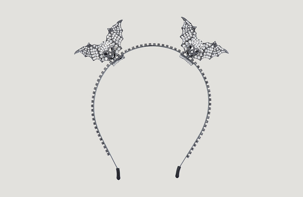 Cute Skull with Wings Headband