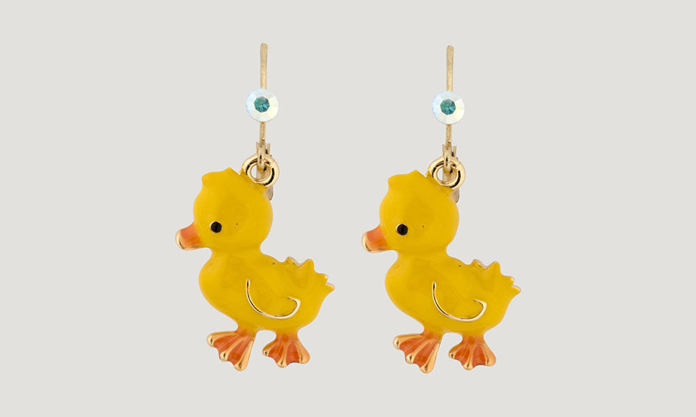 Duck Earrings - Yellow