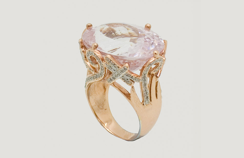 Oval Tourmaline Rose Gold Ring