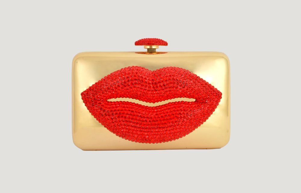 Clutch Bag with Crystal Lip