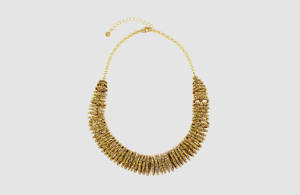 Crystal Disc Rondell Necklace