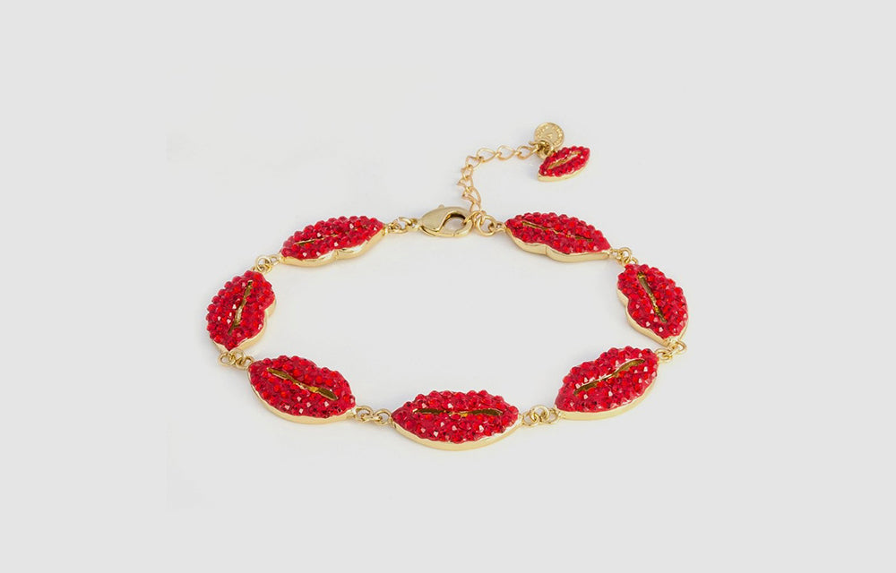 Crystal Multi Lip Bracelet