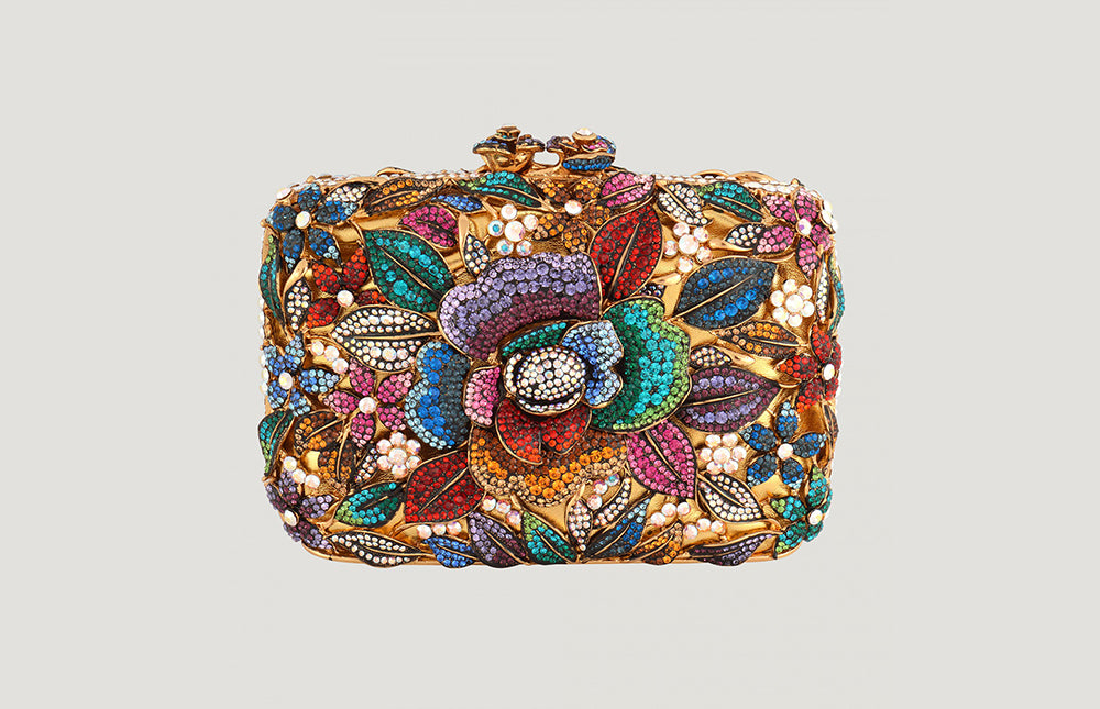 Flower Couture Clutch Bag