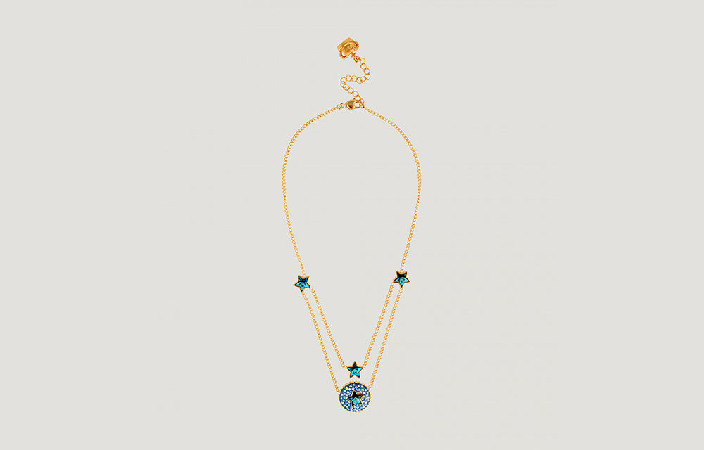 Four Delicate Stars Chain Necklace