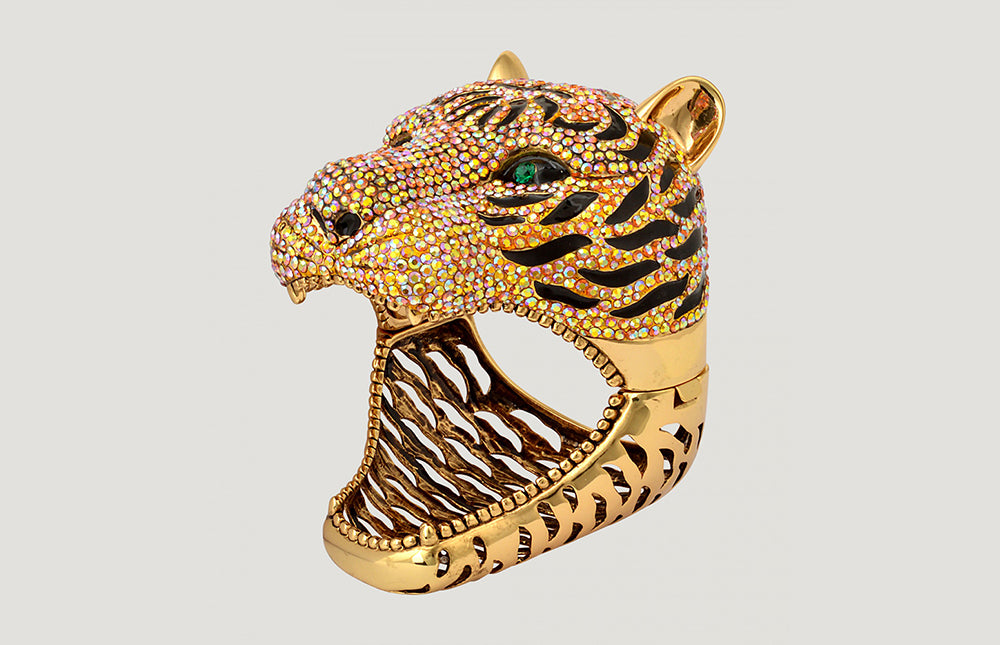 Large Crystal Tiger Cuff
