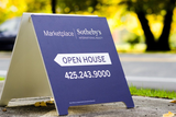 Open House Sign Installation