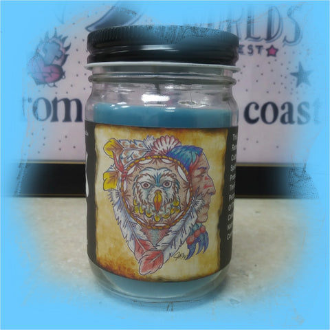 Watchful Spirit: Body Art Lover's 8.5 Ounce Jar Candle
