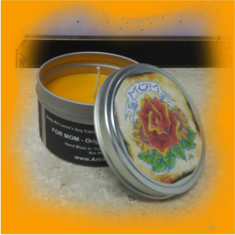 For Mom: Body Art Lover's 4.5 Ounce Candle Tin
