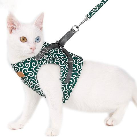 Cat Vest Harness And Leash Set For Daily Outdoor Walking Pet HahaGet
