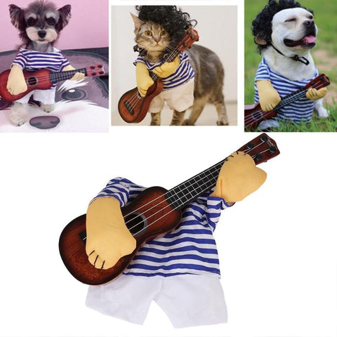 Funny Pets Play Guitar Cosplay Costume