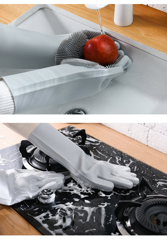 Silicone Scrubber Bristly Gloves HahaGet