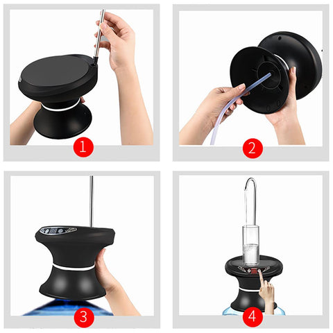 USB Rechargeable Electric Wireless Portable Tray - Typed Water Dispenser HahaGet